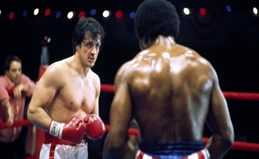 DT5J2C SYLVESTER STALLONE & CARL WEATHERS ROCKY (1976)